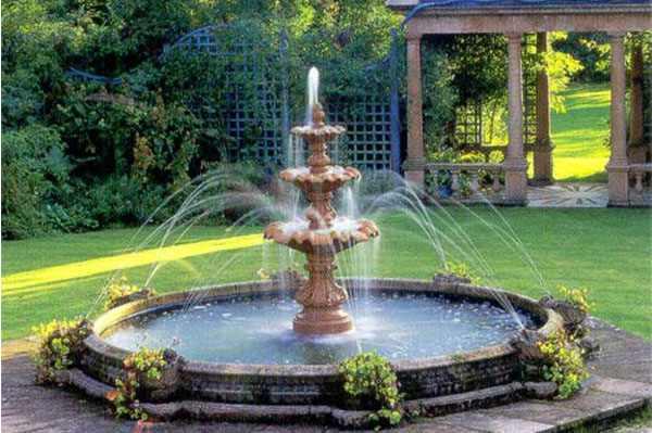 как сделать классический фонтан