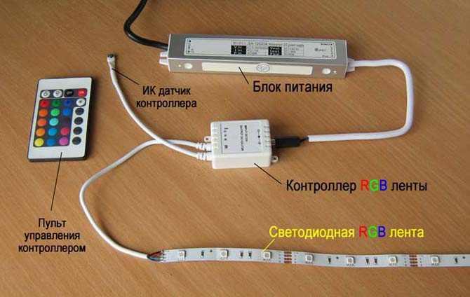 подключение LED-ленты
