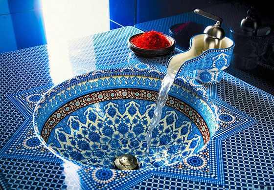 круглая арабская ванна
