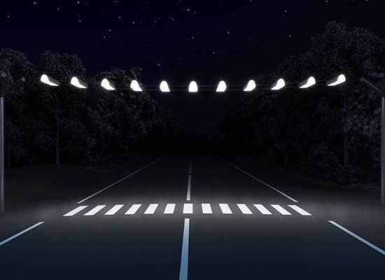 светоотражающая краска на переходе