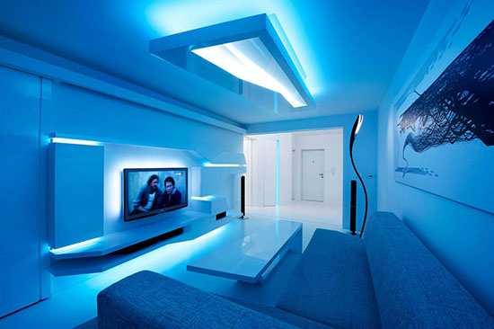 современное освещение в дизайне интерьеров