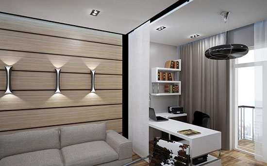Рабочее место в интерьере комнаты 2021